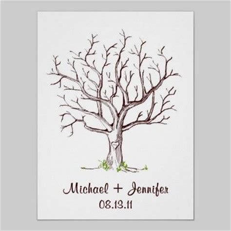 guestbook tree template fingerprint tree guestbook template gift ideas