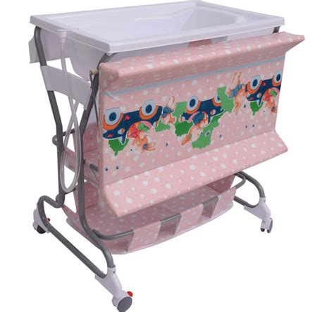 Baby Change Table With Bath And Storage Baby Changing Table Unit Changing Station Storage Trays And Bath With Tub Pink Ebay