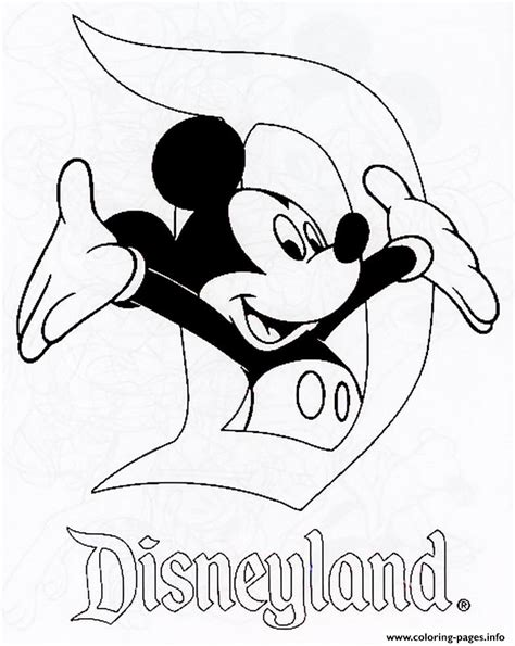 coloring page disneyland mickey in disneyland disney 120e8 coloring pages printable