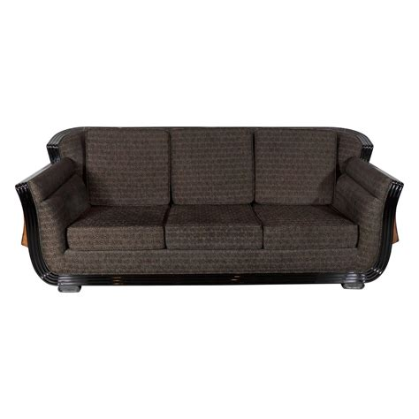 exotic sofas cubist art deco sofa with exotic wood inlay design and
