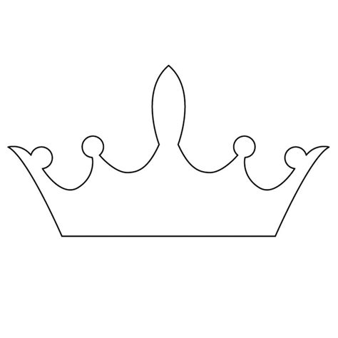 template of crown crown templates clipart best