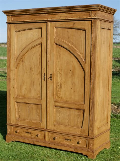 an 19th century antique german solid pine armoire