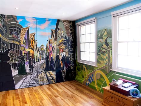Girls Room Paint Ideas by Harry Potter Mural Sacredart Murals