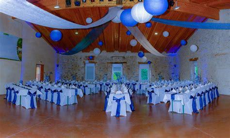 Dã Coration Bleu Salle Mariage Deco Bleu Anyflowers Fr