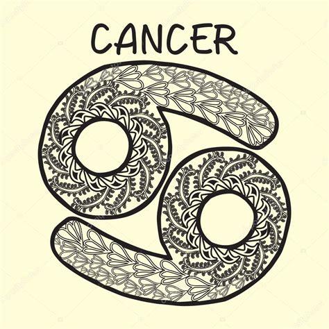 imagenes del signo cancer zentangle stylized cartoon cancer sign zodiac stock