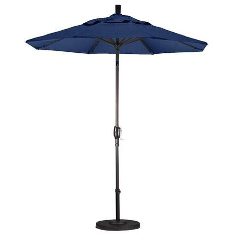 Navy Patio Umbrella California Umbrella 9 Ft Aluminum Auto Tilt Patio Umbrella In Navy Blue Olefin Ata908117 F09
