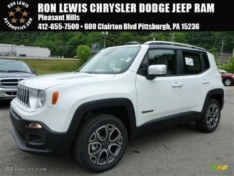 jeep renegade white 2015 alpine white jeep renegade limited 4x4 104381532