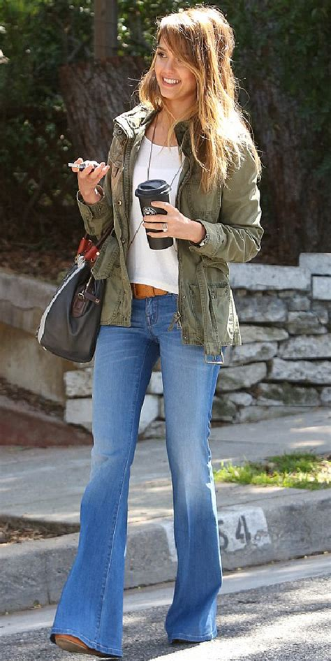 Jessica Alba Flare Jeans   mummy wife and chaos flared jeans jessica alba style