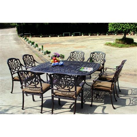 Darlee Patio by Darlee Elisabeth 9 Cast Aluminum Patio Dining Set