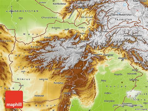 5 themes of geography afghanistan physical map of afghanistan