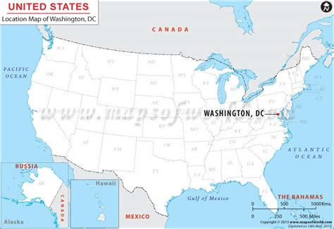 dc usa map where is washington dc district of columbia located