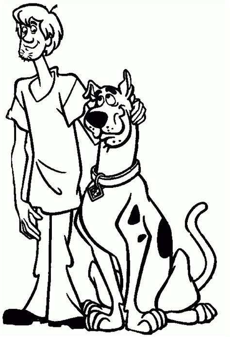 scooby doo colors scooby doo and shaggy coloring pages coloring home