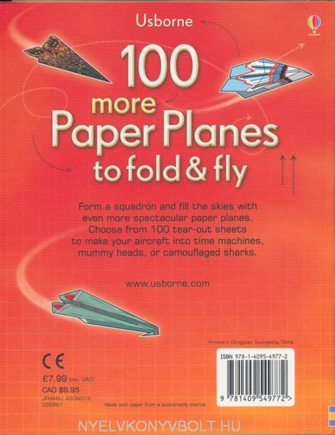 Fold And Fly Paper Planes - 100 more paper planes to fold and fly nyelvk 246 nyv