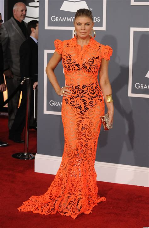 Polls Beyonces Grammy Look by Fergie Grammys 2012 Carpet Dress Fab Or Fug Photos