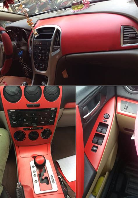 Leather Wrapping Car Interior by Leather Texture Car Sticker Vinyl Wrap Sheet Interior