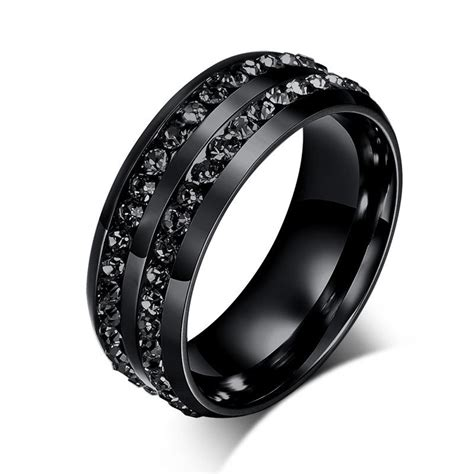 black his and promise ring sets wedding rings