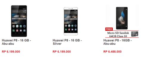 berapa harga huawei p8 di indonesia jeripurba