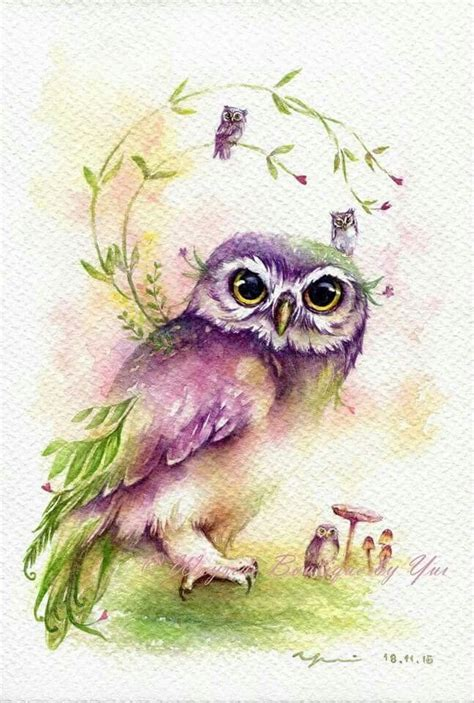 water color owl beautiful ideas owl watercolor owl owl