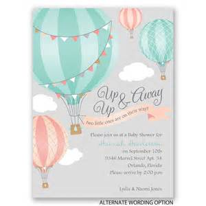 up up away baby shower invitation invitations by