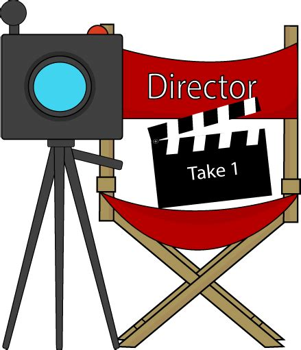 movie director chair clip art movie directors chair and camera clip art movie