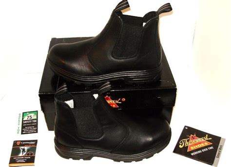 thorogood black boots size 9w mens 11w womens safety toe