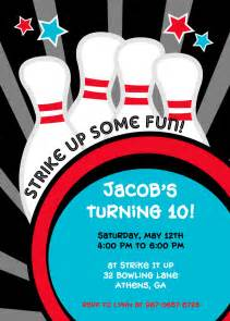 strike it up bowling invitation