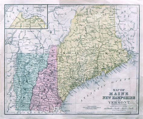 new hshire maine map of maine new hshire and vermont arkansas map