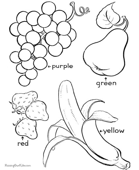 coloring pages fruits preschool printable fruit coloring pages coloring home