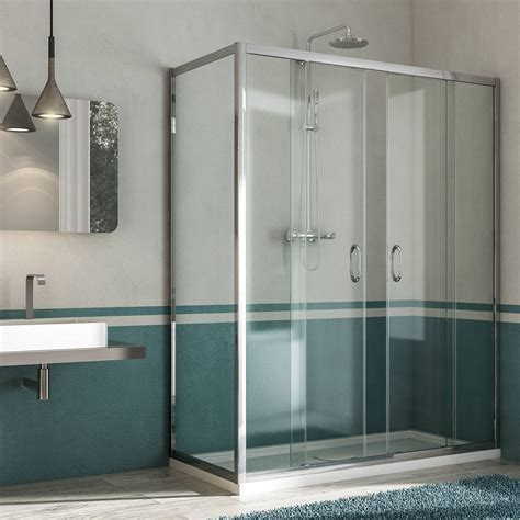 docce titan box doccia anta fissa doppia porta scorrevole altezza 185