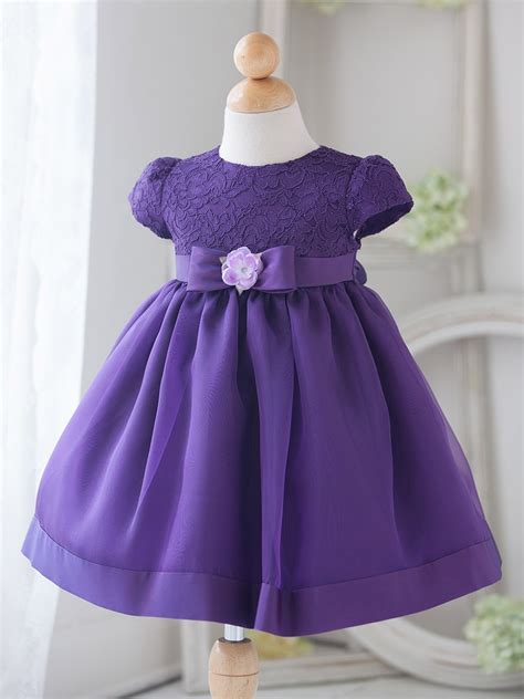 baby purple vintage charm lace dress