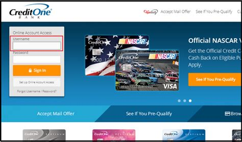 bank one credit credit one bank login www creditonebank credit one