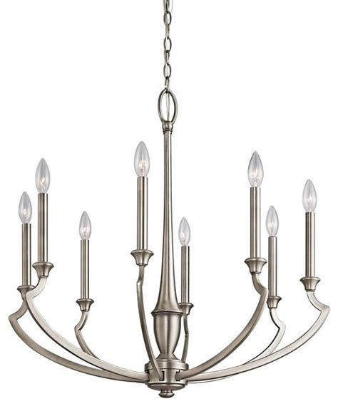 kichler polygon antique pewter mirror transitional kichler lighting 42772ap semprini 8 light chandelier in