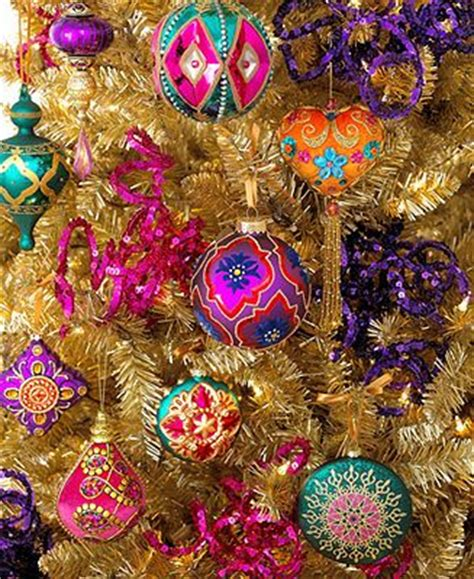 holiday lane christmas ornaments bohemian tree theme