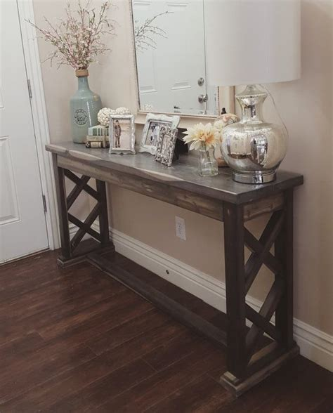 Entryway Tables Rustic Farmhouse And Entryway On