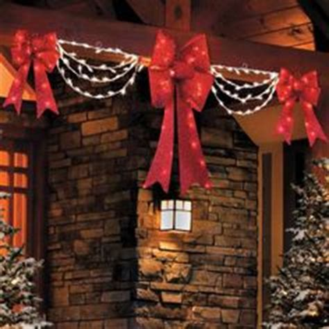christmas led swag lights with bows 3d 1000 images about outdoor decorations on outdoor decorations