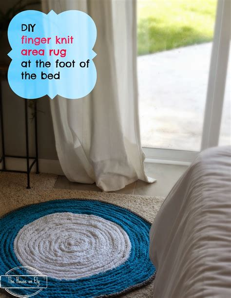 finger knitting rug finger knit area rug