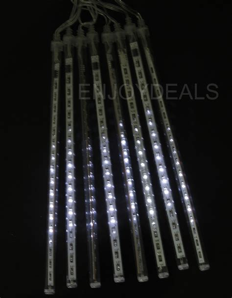 new 8 tube waterproof snowfall meteor led light christmas