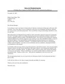 Employment Attorney Cover Letter by Sle Cover Letters For Lawyers Cover Letter Exle