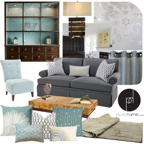 Blue And Grey Living Room by Quot Chic Blue And Grey Living Room Quot By Kimmyellipsis On Polyvore Living Room Living