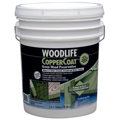 wolman 5 gal coppercoat green below ground wood