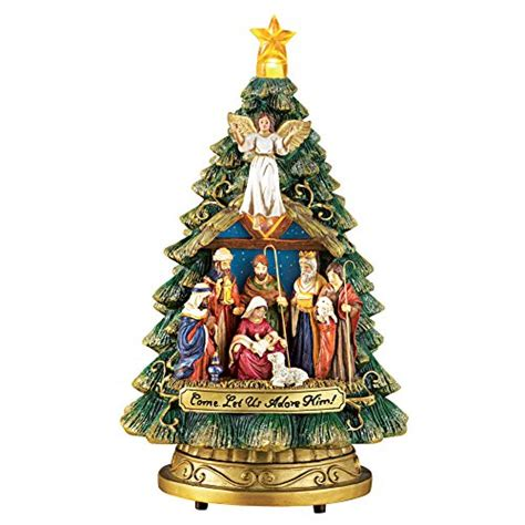 bradford pine miracle christmas tree by puleo collections etc musical nativity tree shop findsimilar