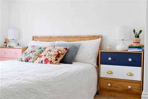 Colorful Bedside Table 30 Bedrooms That Wow With Mismatched Nightstands