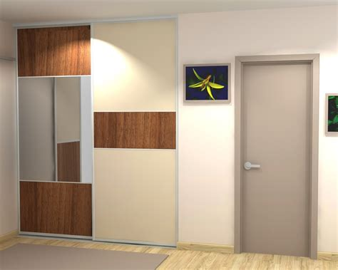 Porte De Placard Coulissante Miroir 3919 by Porte Coulissante Dressing 4 Vantaux Avec Miroir
