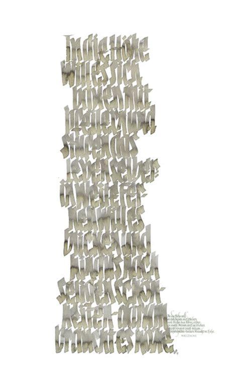 schrift bilder kalligraphie hoyer