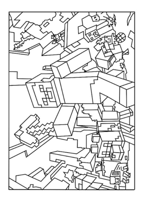 minecraft coloring page by numbers coloring pages best minecraft world coloring pages free