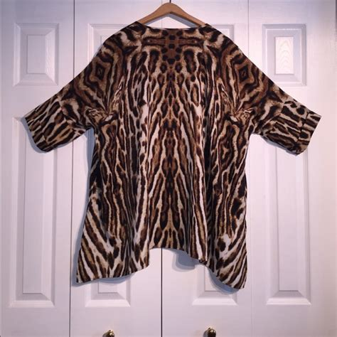 swing style tops 75 off chico s tops chico s black label animal print