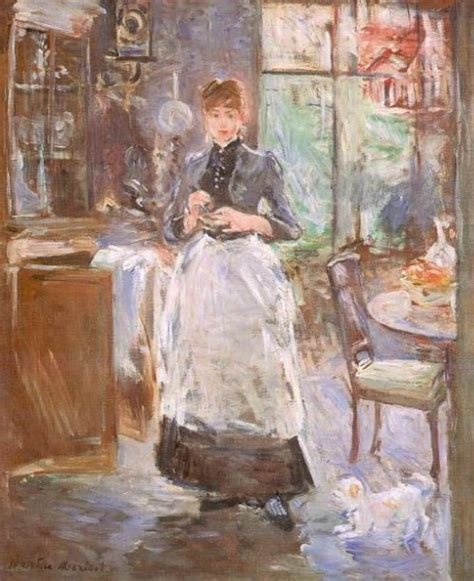 In The Dining Room Berthe Morisot by Berthe Morisot In The Dining Room