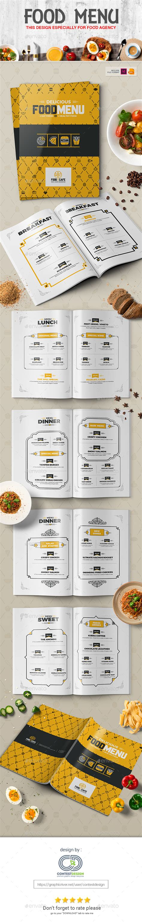 food menu design template for fast food restaurants