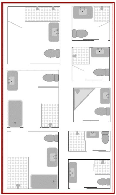 bathroom floor plans for small spaces bathroom layouts to enhance kit house plans
