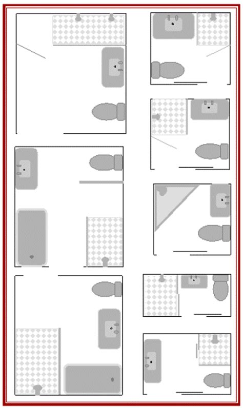 Bathroom Layouts To Enhance Kit House Plans